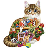 Kittens In The Shed 300 Large Piece Shaped Jigsaw Puzzle