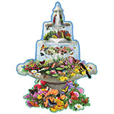 Fountain Fantasy 750 Piece Shaped Jigsaw Puzzle