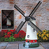Spinning Solar Windmill Light