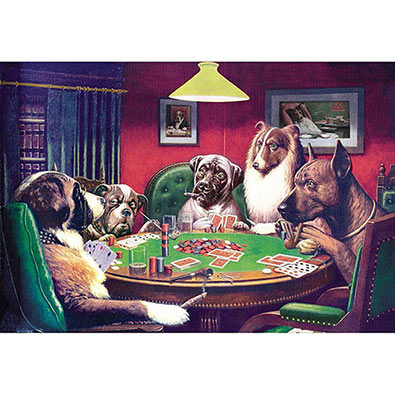 Poker dogs jigsaw puzzle