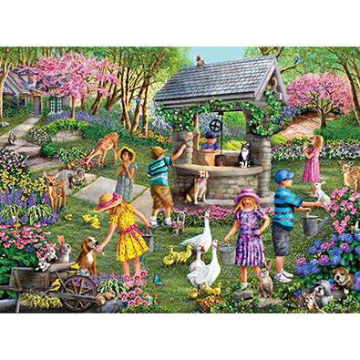 Wishing Well 300 Large Piece Jigsaw Puzzle