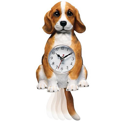 Clocks Moving Dog Clock