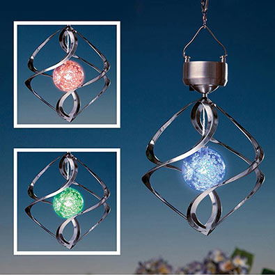 Novelty Lighting - Saturn Wind Spinner
