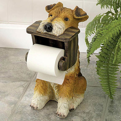 Unique Gifts Terrier Toilet Paper Holder