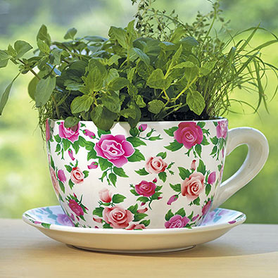 Home Garden Ceramic Giant Teacup Planter