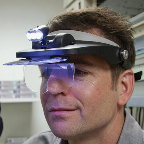 Visor Magnifier And Light