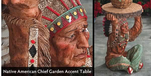 Native American Chief Accent Table