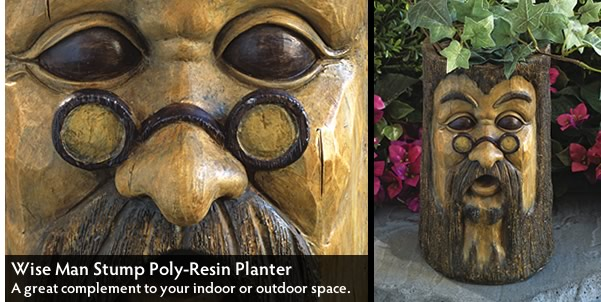 Wise Man Stump Planter